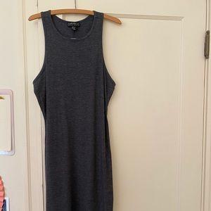 Plus-size gray body con tank dress